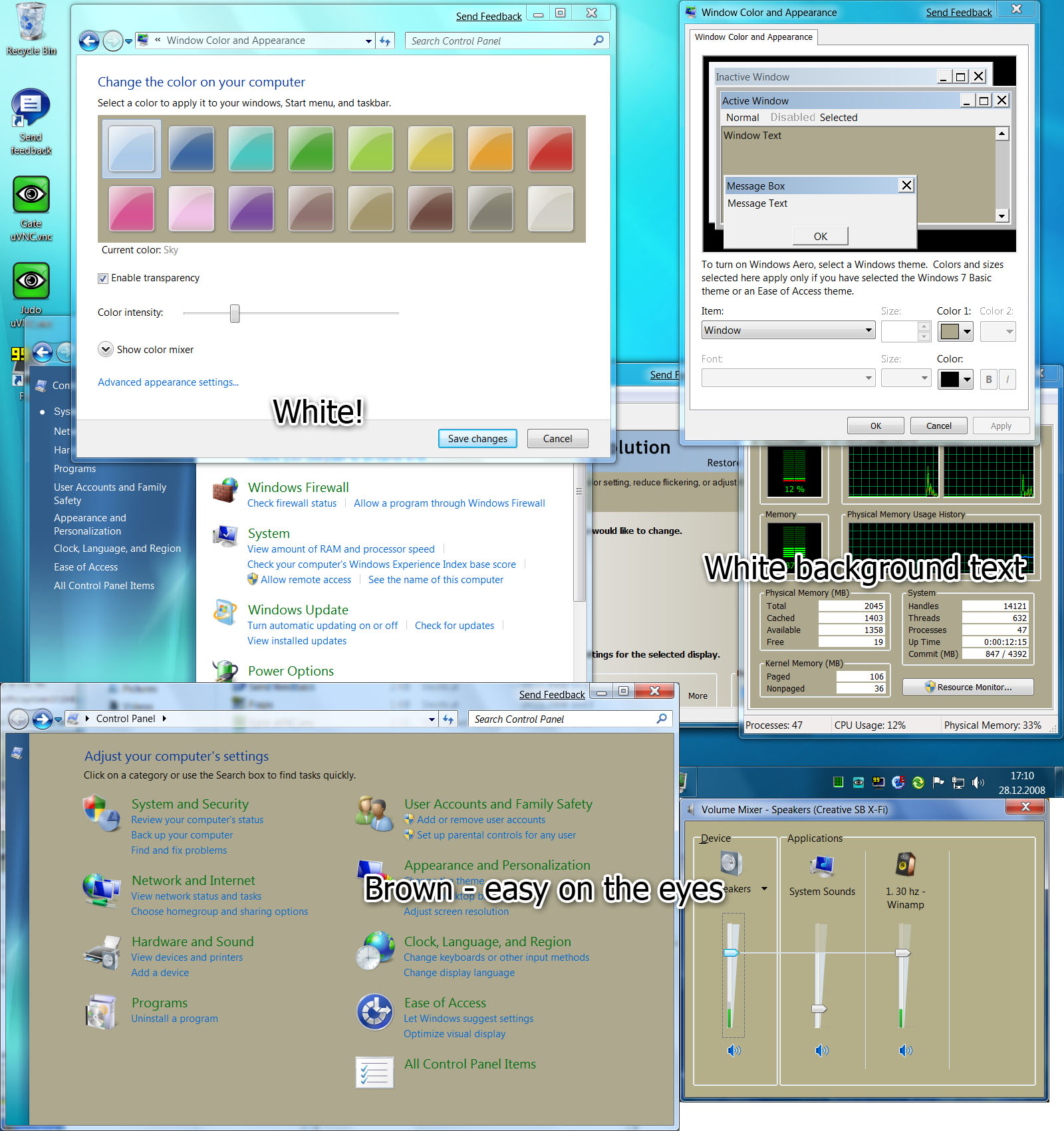 Window Background Color