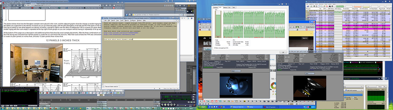 Windows 7 multitasking rendering and teather mix