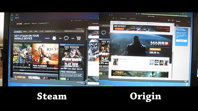 Steam vs Origin UI responsiveness
